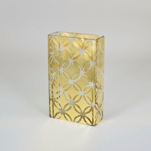 """$87.50 10"""" Tall Vase Gold Assorted TCH-121"""