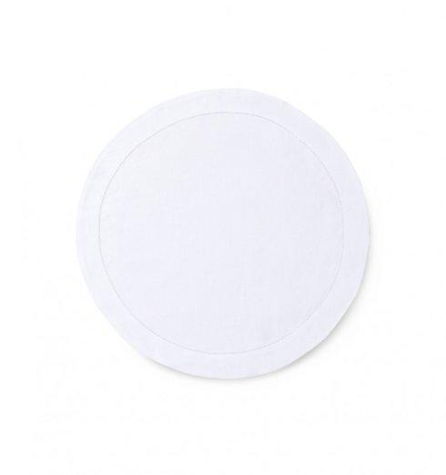 "$25.00 Classico White 15"" Round Placemat SF-045"