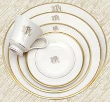 $48.00 Signature Ivory Gold W/Mono Butter PKD-153