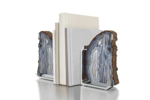 $295.00 Fim Bookends Agate Gray