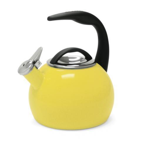 $39.00 Enamel-on-Steel Anniversary Teakettle Yellow