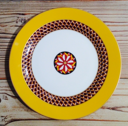 $95.00 Yellow Dessert Plate