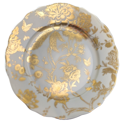 $165.00 Grey & Gold accent plate