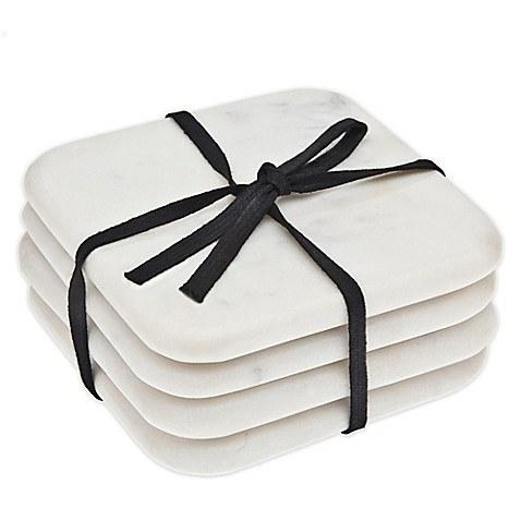 $19.00 White Marble Coasters