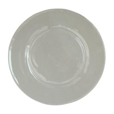 $17.00 Le Cadeaux rustique taupe dinner plate