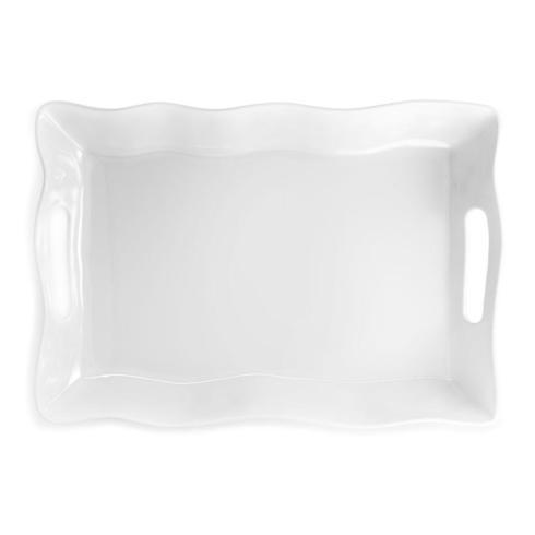 $48.00 Q Square White Rectangle Tray