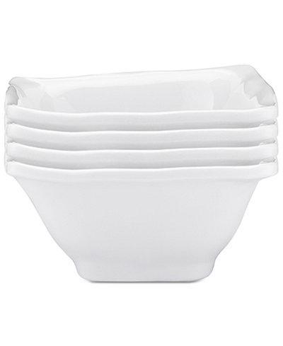 $6.00 Q Squared White Dip Bowl