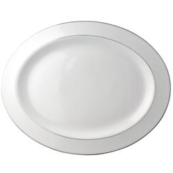 "$260.00 Cristal Oval Platter 15"" L"