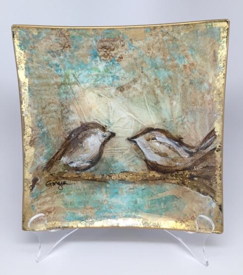 $75.00 Birds on Branch Glass Tray