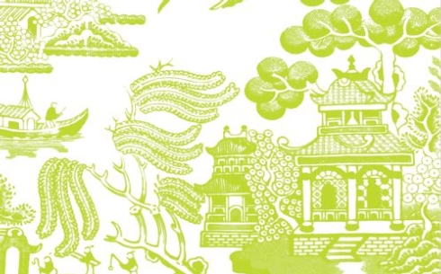$29.00 Willow Paper Placemats, Citron - Pad of 50