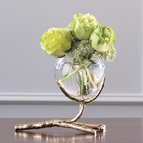 $130.00 VASE WITH GOLD TWIG HOLDER