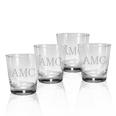 $55.00 Set of 4 Double of Fashioned Glasses with Monogram