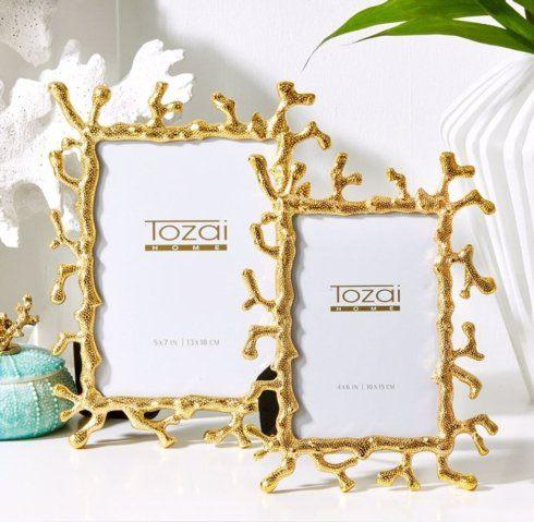 $68.00 5X7 GOLD CORAL FRAME