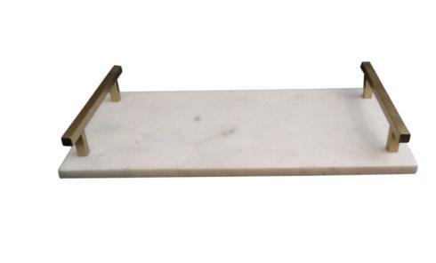$40.00 SM MARBLE TRAY WITH HANDLES