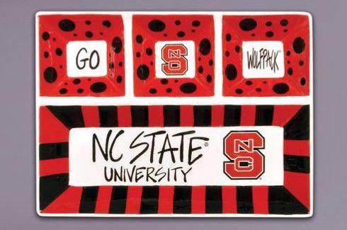 $45.00 NC State 4-Section Platter