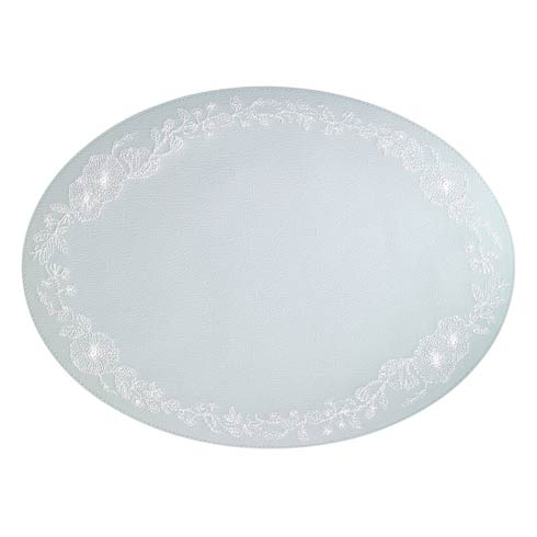 $144.00 Celadon White Mats - Pack of 4