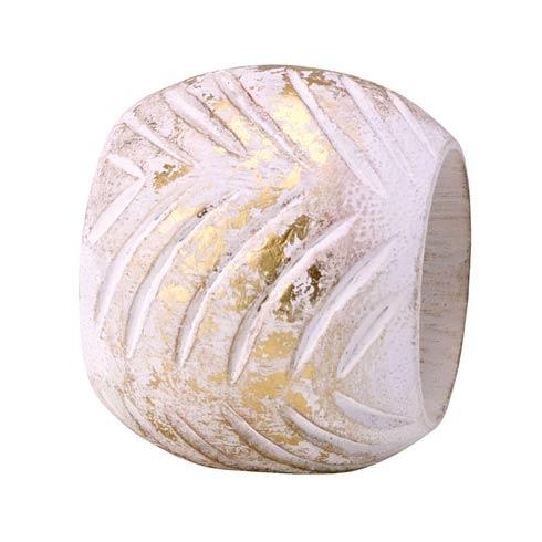 $45.00 White/Gold Napkin Ring - Pack of 4