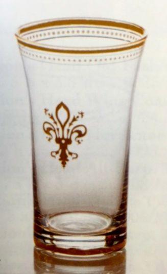 $80.00 Set of 4 Fleur de Lis w/ 22 K gold trim