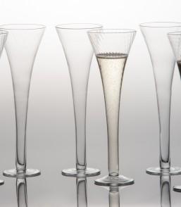 $74.00 Set of 6 Optic Champagne Flutes