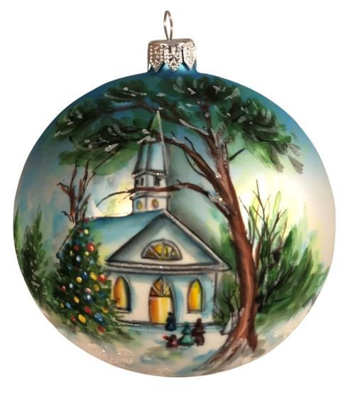 "$39.00 Hand Painted Tree 4"" ornament"