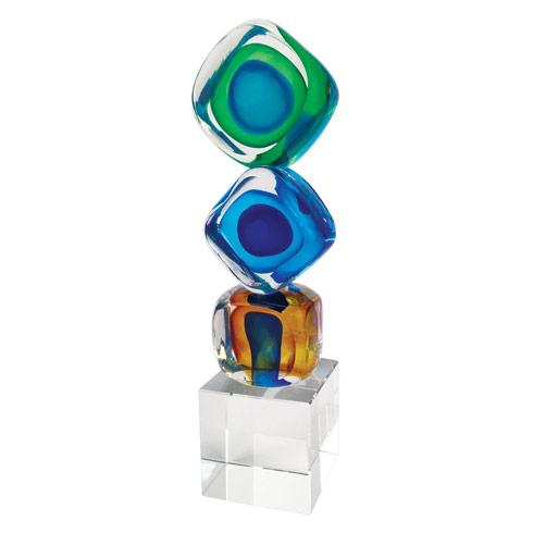 """$79.00 Tricolore Cubed Centerpiece 8"""""""