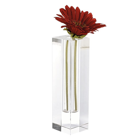 "$48.00 Donovan 7.25"" Optical Crystal Bud Vase"