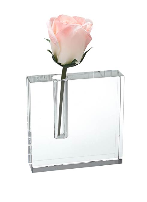 $79.00 The Block Handcrafted Crystal  Bud Vase 5 X 5""