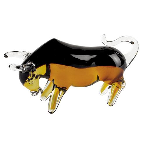 $69.00 Art Glass Bull