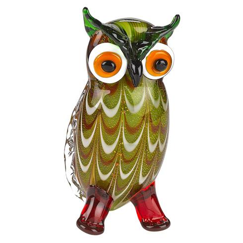 $59.00 Art Glass Owl