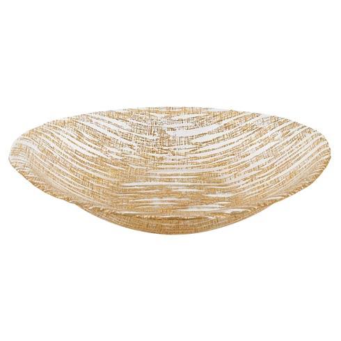 "$49.00 Secret Treasure Gold Oval Bowl 15"" X 9"""