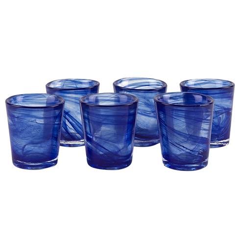 $29.00 Set of 6 Blue Alabaster Shot Glasses