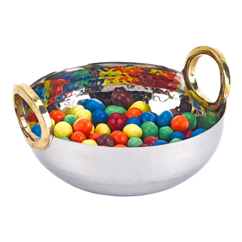 $29.95 Rings Stainless Steel and Brass Serving Bowl
