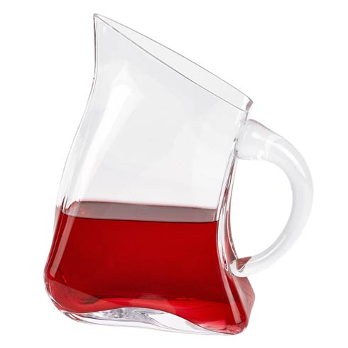 "$59.00 Celina Unique Flat Design Lead Free Crystal Pitcher  H8.5"" - 24 oz."