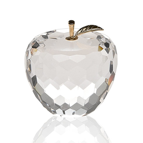 $35.00 Apple Paperweight with Gold Leaf