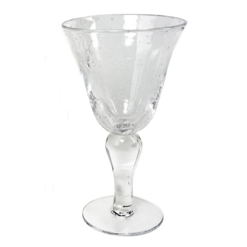 $15.00 BELL WATER CLEAR BUBBLE GLASS