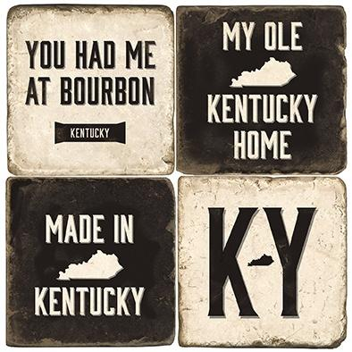$54.00 KY HOME COASTERS W/ IRON STAND