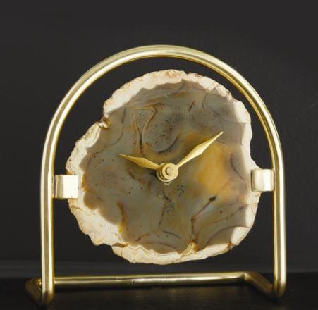$82.00 AGATE TABLE CLOCK