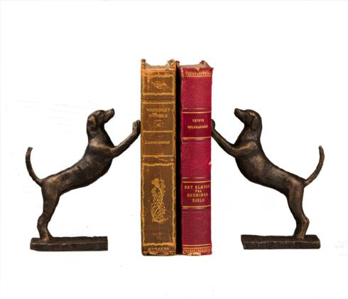 $95.00 LEANING DOG BOOKENDS PR