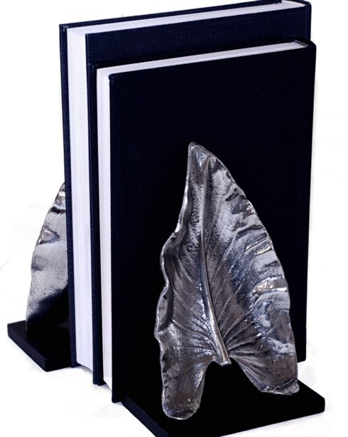 $75.00 LEAF NICKEL BOOKENDS PR.