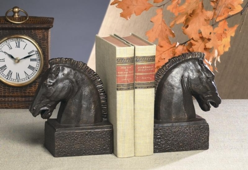 $95.00 HORSE HEAD BOOKENDS