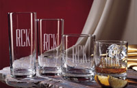 $58.00 PERSONALIZED DOF GLASSES SET/4