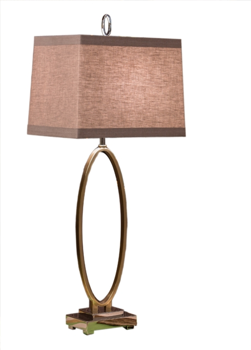 $290.00 OVAL ANTIQUE BRASS LAMP