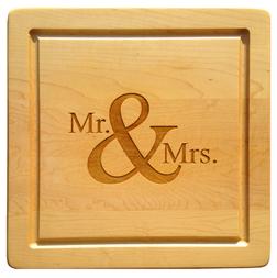 $88.00 SQUARE MR & MRS WOODEN BOARD