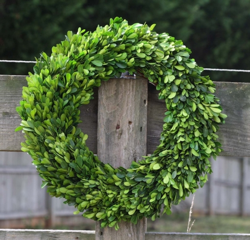 $56.95 PRESERVED BOXWOOD WREATH