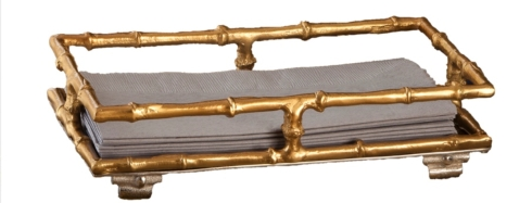 $45.00 BGUEST TOWEL HOLDER-BRASS