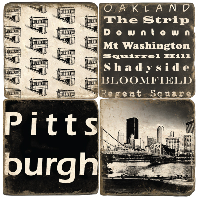 $44.00 PITTSBURGH COASTER SET/4