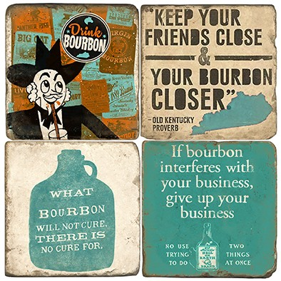 $44.00 BOURBON LABEL COASTERS