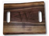 $110.00 WALNUT LIVE EDGE DOUBLE HANDLE BOARD