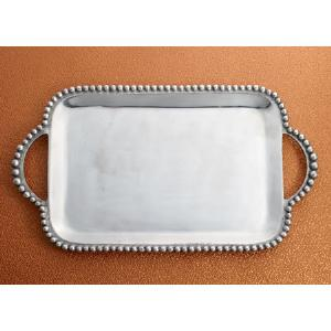 $69.95 BEADED TRAY WITH HANDLES