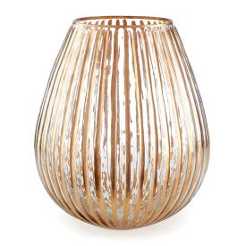 $54.95 RIBBED GLASS LUMINARY, LARGE